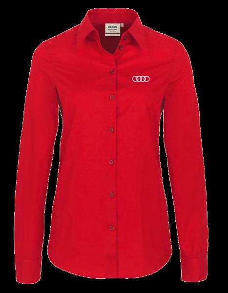Women long-sleeve Blouse, red