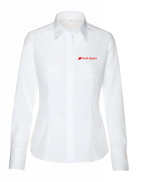 Audi Sport long-sleeve Blouse, modern, white