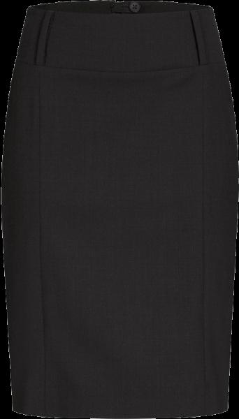 Pencil Skirt, Premium, wide waistband, regular, black