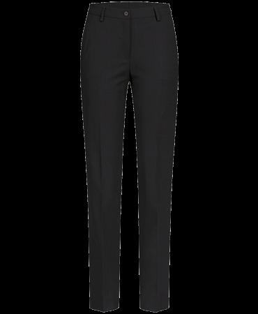 Women Trousers, Premium, regular, high rise, black