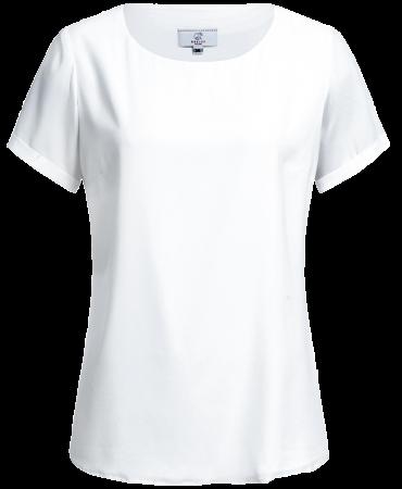 Women´s chiffon blouse, Premium, regular, short-sleeve, white