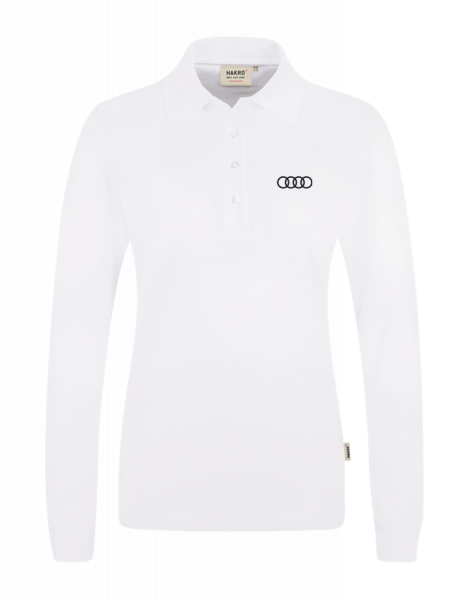 Women Long-Sleeve Polo, white