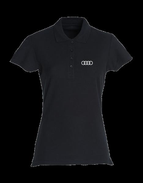 Damen Polo, Classic, schwarz