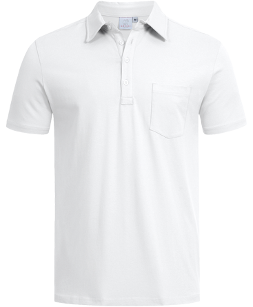 Men´s Polo, regular, short-sleeve, white