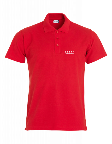 Men´s Polo, Classic, red