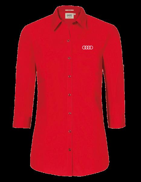 Damen 3/4 Bluse, rot