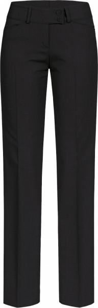 Women Trousers, Premium, regular, low rise, black