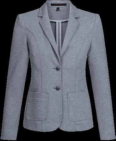 Damen Jerseyblazer Casual, regular, grau meliert
