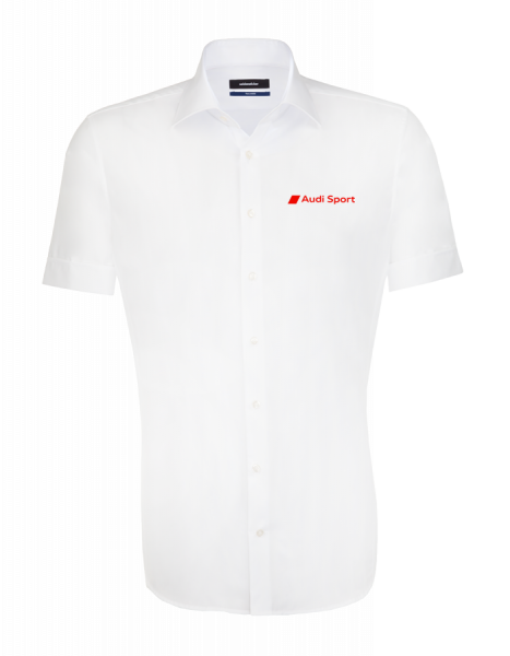 Audi Sport short-sleeve Shirt, tailored, white