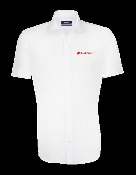 Audi Sport Kurzarmhemd, tailored, weiß