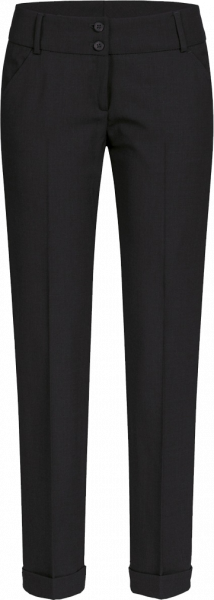 Women trousers, Premium, slim fit, low rise, black