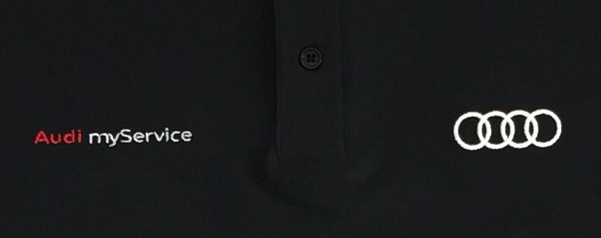 AUDI_MyService_Poloshirt_schwarz_Ausschnitt