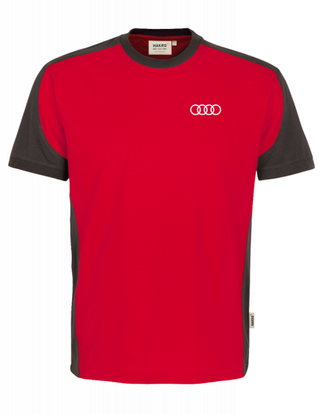 Men´s T-Shirt, Contrast, red-anthracite
