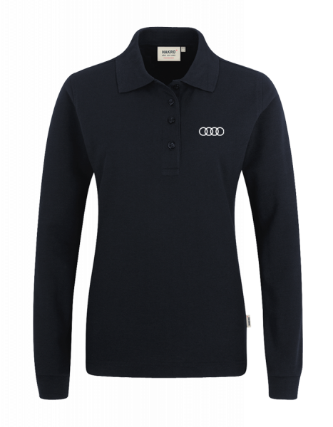 Women Long-Sleeve Polo, black