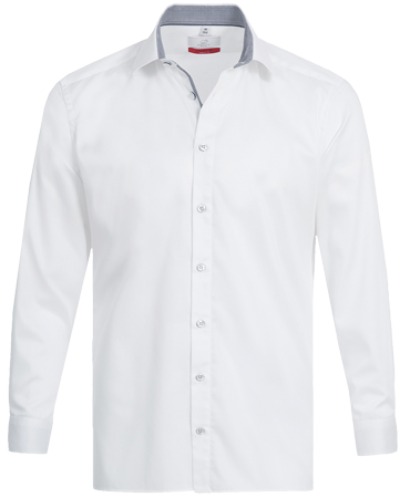 Men´s Shirt, long-sleeve, Premim; regular, white-grey