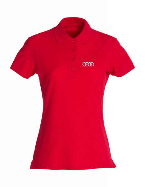 Women Polo, Classic, red