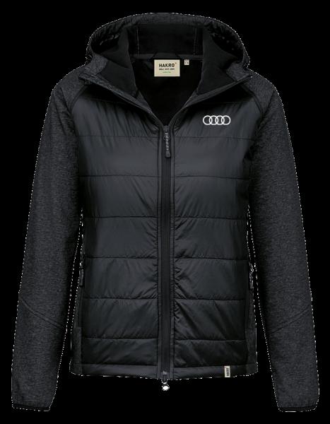 Damen Hybridjacke, schwarz