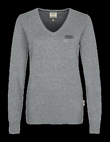 Women V-Pullover, grey