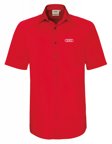 Men´s short-sleeve Shirt, red