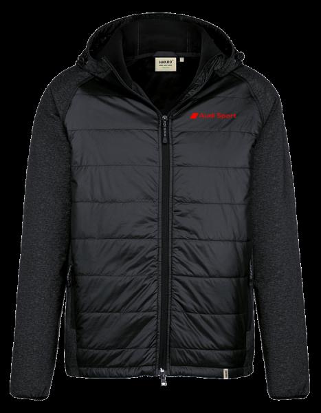 Audi Sport Herren Hybridjacke, schwarz