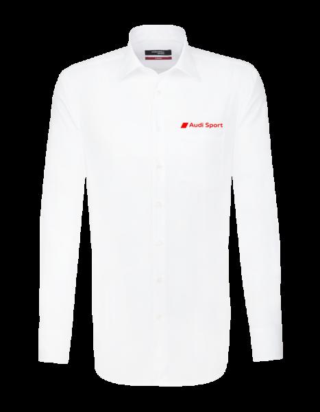 Audi Sport Langarmhemd, modern, weiß