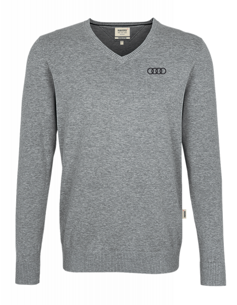 Men´s V-Pullover, grey