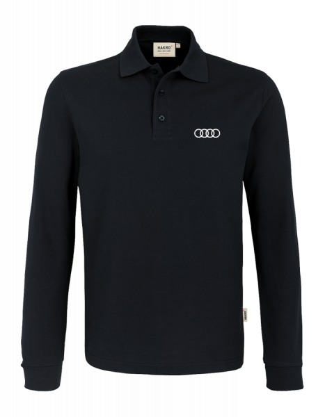 Men´s Long-Sleeve Polo, black