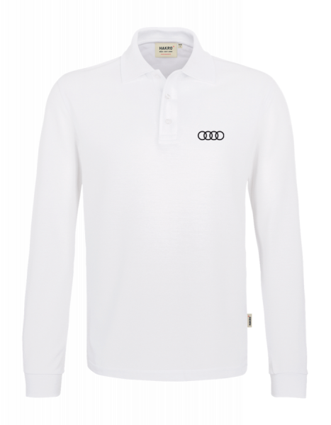 Men´s Long-Sleeve Polo, white