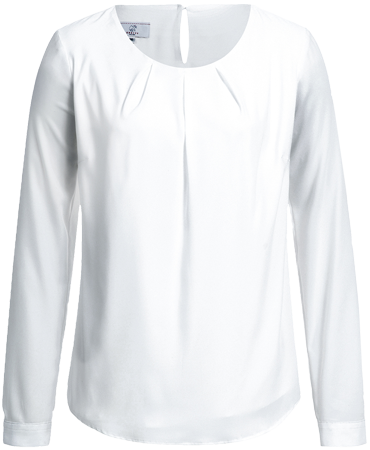 Women´s chiffon blouse, Premium, regular, long-sleeve, white