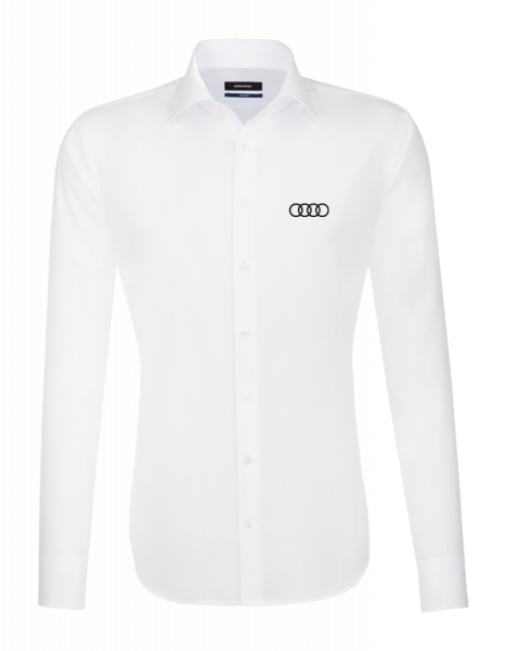 Seidensticker long-sleeve Shirt, tailored, white