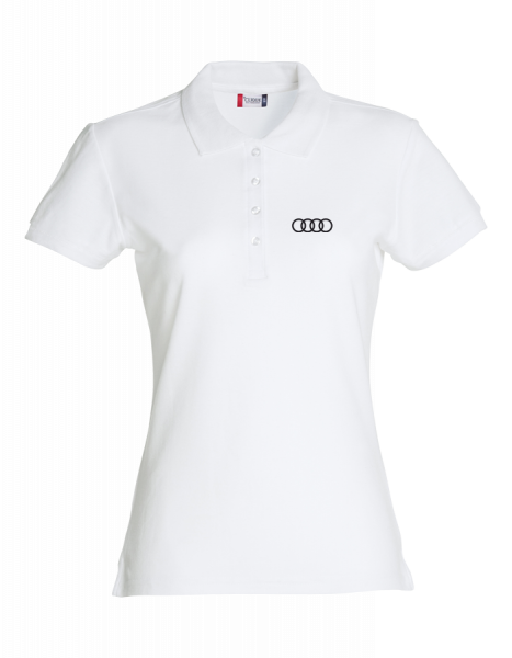 Damen Polo, Classic, weiß