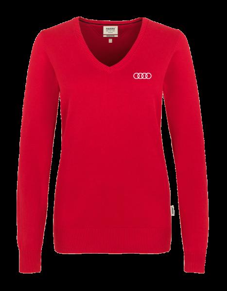 Women V-Pullover, red