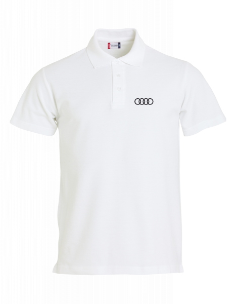 Men´s Polo, Classic, white