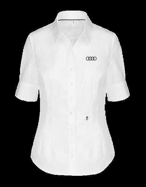 Seidensticker short-sleeve Blouse,tailored, white