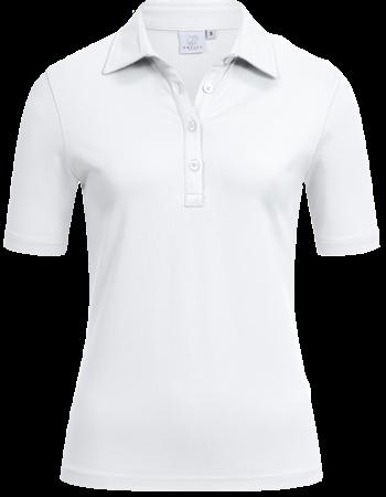 Women´s Polo, regular, short-sleeve, white